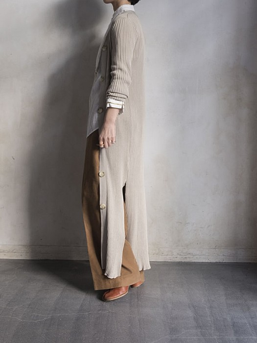 SALT+JAPAN/rib long cardigan